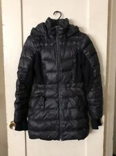 Bebe Puffer Black Down Fill Long Jacket Hooded Warm Parka - Small