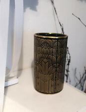 HUTSCHENREUTHER Vase   / BLUMENVASE SCHWARZ MIT GOLDDEKOR - edel I. Wahl