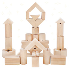 Wooden Construction Building Blocks Stacking Toy for Kids