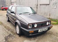 Volkswagen Golf Mk2 GTI 3dr 8V 1991 2 Owner Big Bumper Atlas Grey Year MOT