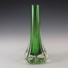 Whitefriars/Baxter Meadow Green Glass Elephant Foot Vase