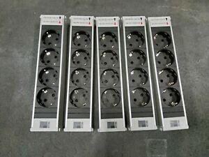5 x Rittal DK PSM 7856.100 Schuko Steckdosenleiste Einsteckmodul  4-fach