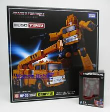 61799 TRANSFORMERS MASTERPIECE MP-35 GRAPPLE with METAL MINI MAGNUS TAKARATOMY