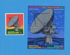 SINGAPORE   Scott  142-143 - VFMNH - Satellite Earth Station - 1971