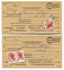 Canada BC British Columbia - Smithers 1969 Motel Key Return - Postage Due Cards