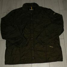 "Barbour ""XL"" Green Liddesdale Track Quilt Mens Jacket Quilted Coat"