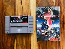 Ninja Warriors + Manual Instruction Booklet rare AUTHENTIC VERY GOOD Condition