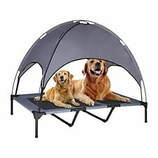 New listing Olsago Elevated Dog Bed with Canopy, Portable Raised Pet Cot for Camping or Beac