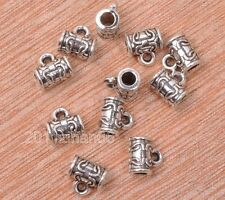 40pcs Tibetan Silver charm Tone Cup Connectors Bails Jewelry Findings 7MM B0733