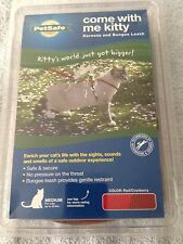 Petsafe Come With Me Kitty Harness and Bungee Leash Medium Red Cranberry