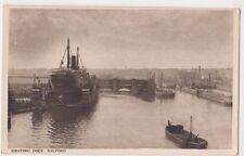 Manchester Ship Canal, Graving Dock, Salford Postcard, B601