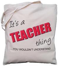 Es ist Lehrer Sache, sie würden nicht verstehen-Natur Baumwolle Schultertasche