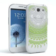 Hülle für Samsung Galaxy S3 / Neo Schutz Cover Handy Case Motiv Weiß / Grün