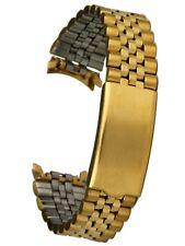 Osco Edelstahluhrarmband gold 18 mm Stegbreite Faltschliesse Uhrband Jubilee