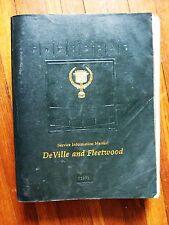 1991 Cadillac De Ville Fleetwood Service repair manual