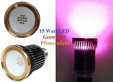 15W COB LED Grow Plant Lamp Light E27 Pflanzen Lampe Beleuchtung Full Spectrum