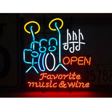 """Drums Open Neon Sign Light Beer Bar Pub Wall Poster Culb Visual Artwork17""""x14"""""""