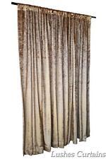 Gold 72 inch H Custom Velvet Curtain Panel Treatment w/Rod Pocket Top Drapery