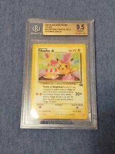2001 Black Star Promo Italian Birthday Pikachu Holo BGS 9.5 Gem Mint