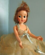 """VINTAGE RELIABLE  BROWN  Hair /open/close  Blue eyes  11"""" PLASTIC  Doll"""