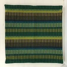 Crate and & Barrel Pillow Cover 18 x 18 KUMI Olive teal purple