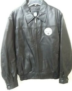PITTSBURGH STEELERS LEATHER JACKET   LARGE  (NEW)
