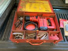 Hilti TE12 Hammer Drill in Case w/ 11 Bits and Keyless Chuck Adapter