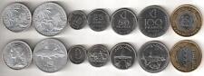 COMOROS COMPLETE COIN SET 2+5+10+25+50+100+250 Francs UNC UNCIRCULATED LOT of 7