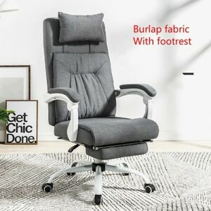 Adjustable Office Chair Quality Executive Chair Ergonomic Chair Gray Foot Rest