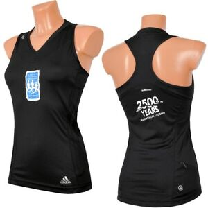 Adidas Marathon Women's Running Tank Top Singlet Shirt Sports S M Black