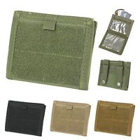 Condor MA39 Modular MOLLE ID Holder Zipper Pocket Hook-n-Loop Admin Pouch Wallet