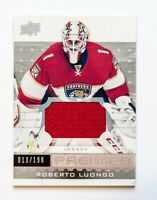 ROBERTO LUONGO GAME USED JERSEY CARD 16-17 UPPER DECK PREMIER HOCKEY 013/199 WOW