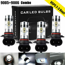 Combo 9005+9006 LED Headlight Fog lights Hi-Low Beam 6000K White 200W 4000LM Kit