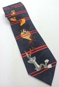 Official Looney Tunes Neck Tie  Taz Bugs Bunny Daffy Duck Vintage Retro 1995