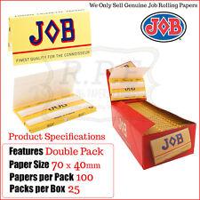 JOB Red Luxury Cigarette Regular Rolling Papers - One Full New Box 25 Packs