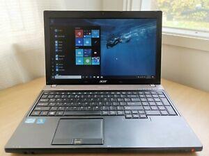 "Acer TravelMate P653 15.6"" Laptop Intel i7-3632QM @2.2Ghz 8GB Ram 256GB SSD W10H"
