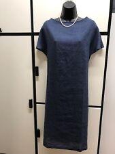 Fog Linen Work Japan OS Handkerchief Linen Dark Blue Minimalist Tie Dress