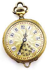 Appraised VTG Longines 1898/99 14k Gold Open Face Pocket Watch Pendant 17J Swiss