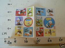 STICKER,DECAL SHEET WALT DISNEY DONALD DUCK 12 STICKERS MARGRIET 1983