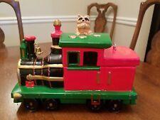 Roman Inc 1986 Evergreen Express Christmas Train Music Box Cookie Jar