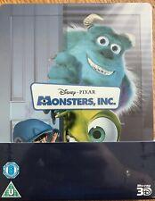 Monsters Inc Disney Pixar UK Steelbook ( New & Sealed ) 3D Blu-ray