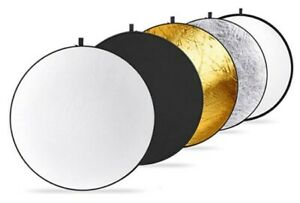 Neewer Round 5-in-1 Collapsible Multi-Disc Light Reflector with Carrying Case
