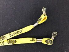 """Sports Sunglass Neck Strap - Yellow With """"DuPont Kevlar"""" Logo - 18 Inch"""