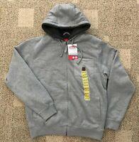 Coleman Men's M Medium Full Zip Fleece Lined Work Hoodie Sweatshirt Jacket Gray