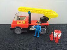 Playmobil Klicky 3236 (?) Feuerwehr Leiterwagen Lkw Truck 70er 80er Jahre