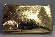 BBW TRUE BLUE SPA GOLD EMBOSSED MAKEUP/COSMETIC BAG