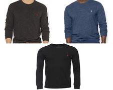 Ralph Lauren Crew Neck No Pattern Long Sleeve Men's Casual Shirts & Tops
