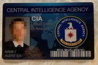 CIA USA Central Intelligence ID Novelty Gag Drivers License Spy Secret Agent