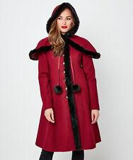 Joe Browns Womens Faux Fur Trim Winter Coat with Cape