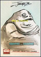 TOPPS STAR WARS GALAXY 2008 JABBA THE HUT MINT RARE LIMITED SKETCH CARD 1/1